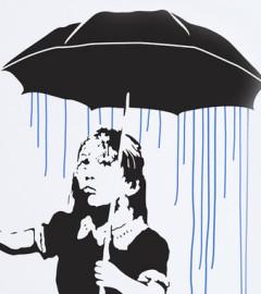 banksy umbrella girl arad culture