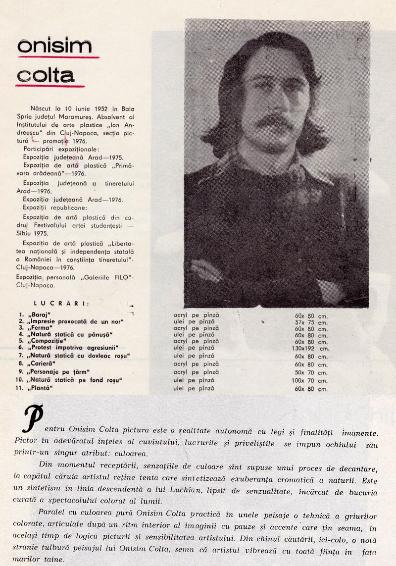 onisim colta artist 1977