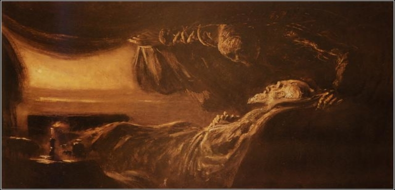 Laszlo Mednyanszky Death and old man
