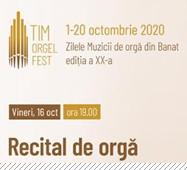 Recital de orgă Dalibor Miklavcic @ Sala Palatului Cultural